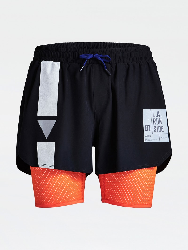 SHORTS WITH LOGO PRINT image number 2