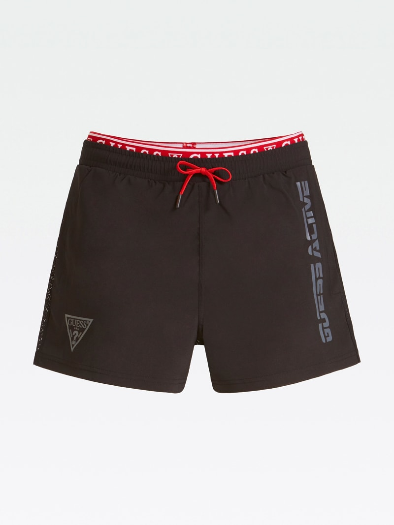 SPORTS SHORTS WITH SIDE LOGO PRINT image number 3