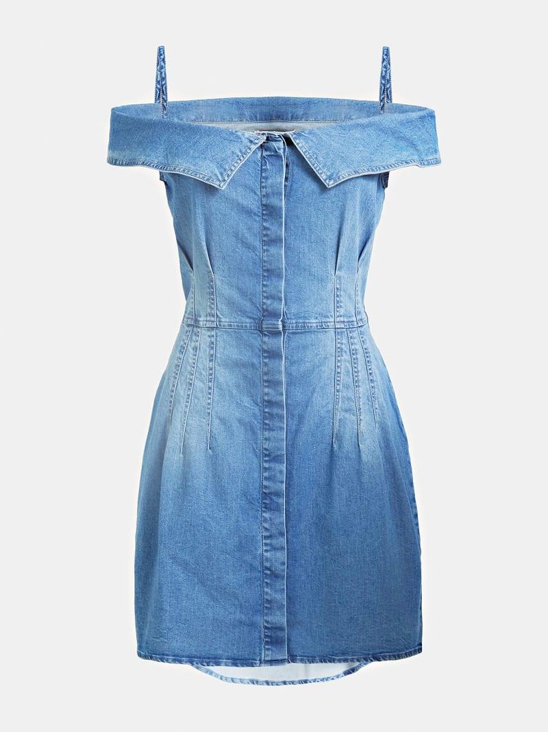 SLIM FIT DENIM DRESS image number 2