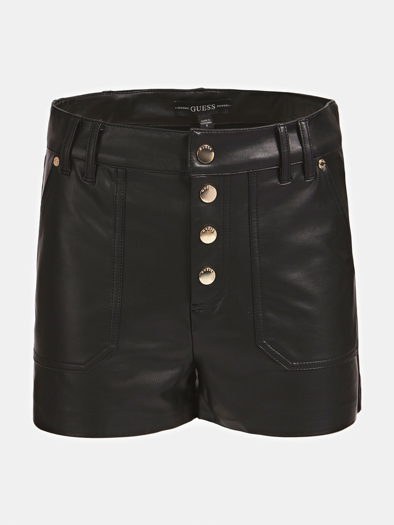FAUX LEATHER SHORTS image number 5