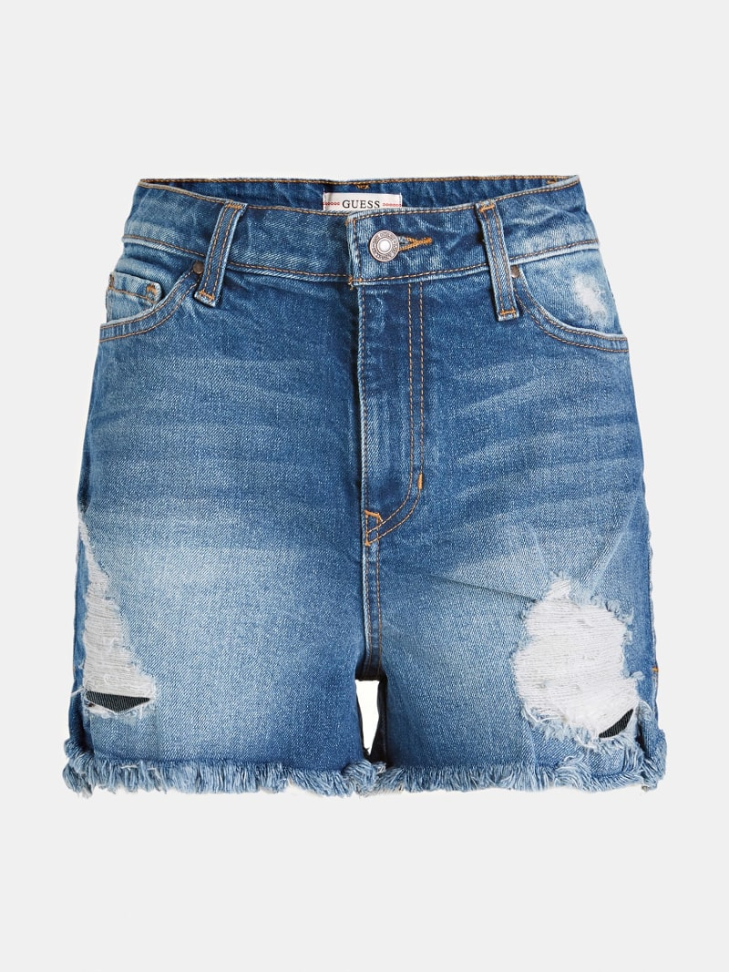 RIPPED DENIM SHORTS image number 3