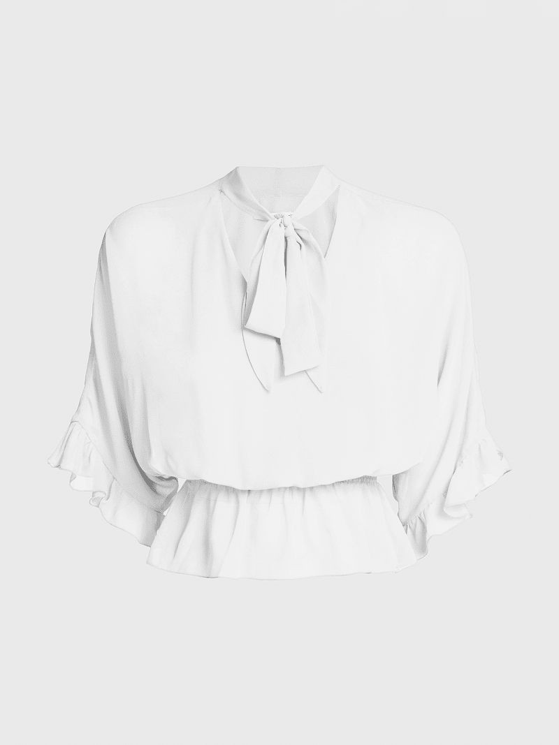 BLOUSE BOW AT THE COLLAR image number 3