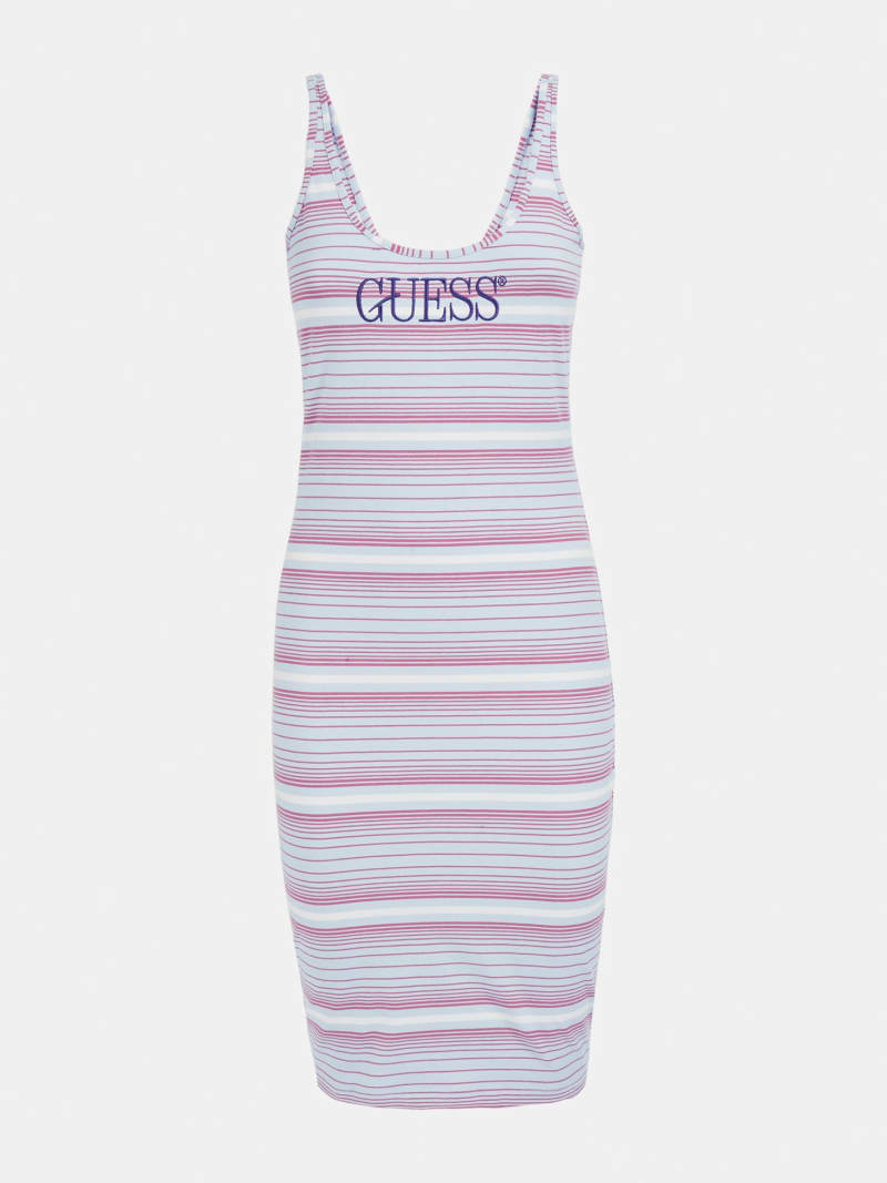 LOGO STRIPE DRESS  image number 4