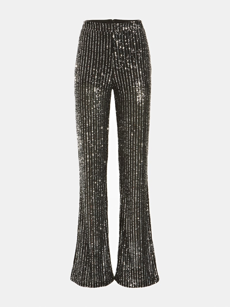 FLARED SEQUIN PANTS image number 3