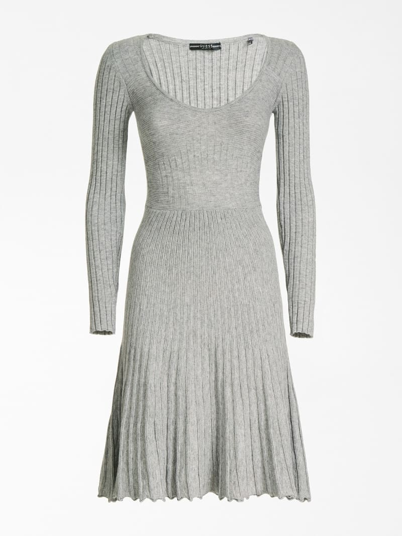 PLEATED-LOOK KNIT DRESS image number 2