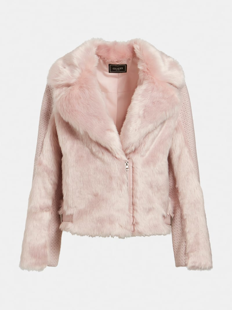 SHORT FAUX FUR JACKET image number 6
