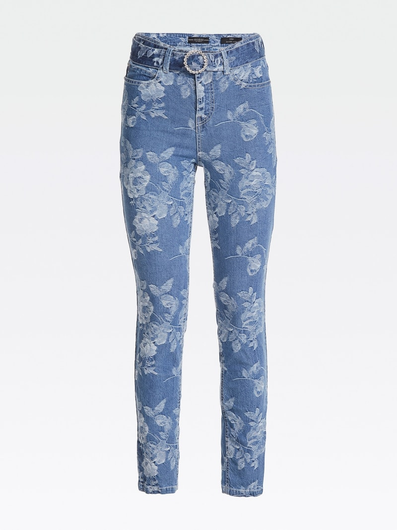 JACQUARD SKINNY FIT DENIM PANT image number 3