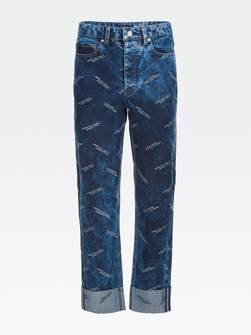 LUREX YARN RELAXED FIT DENIM PANT image number 3