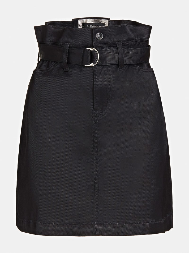 PAPER BAG DENIM SKIRT image number 3