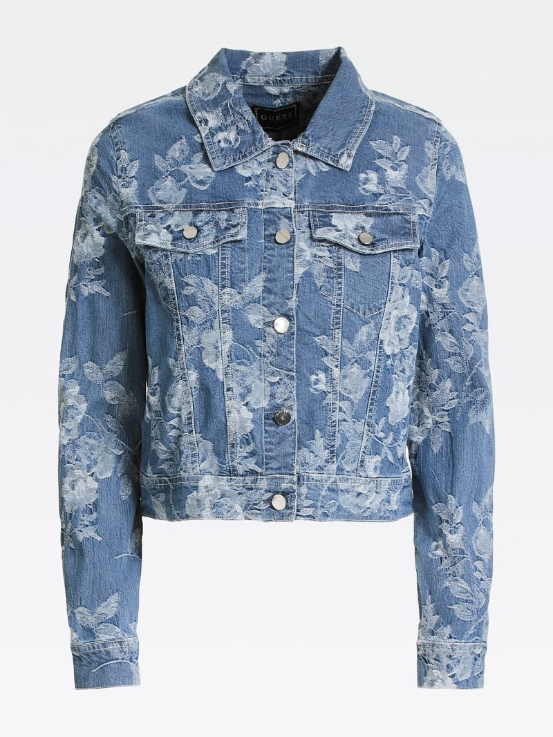 JACQUARD DENIM JACKET image number 3