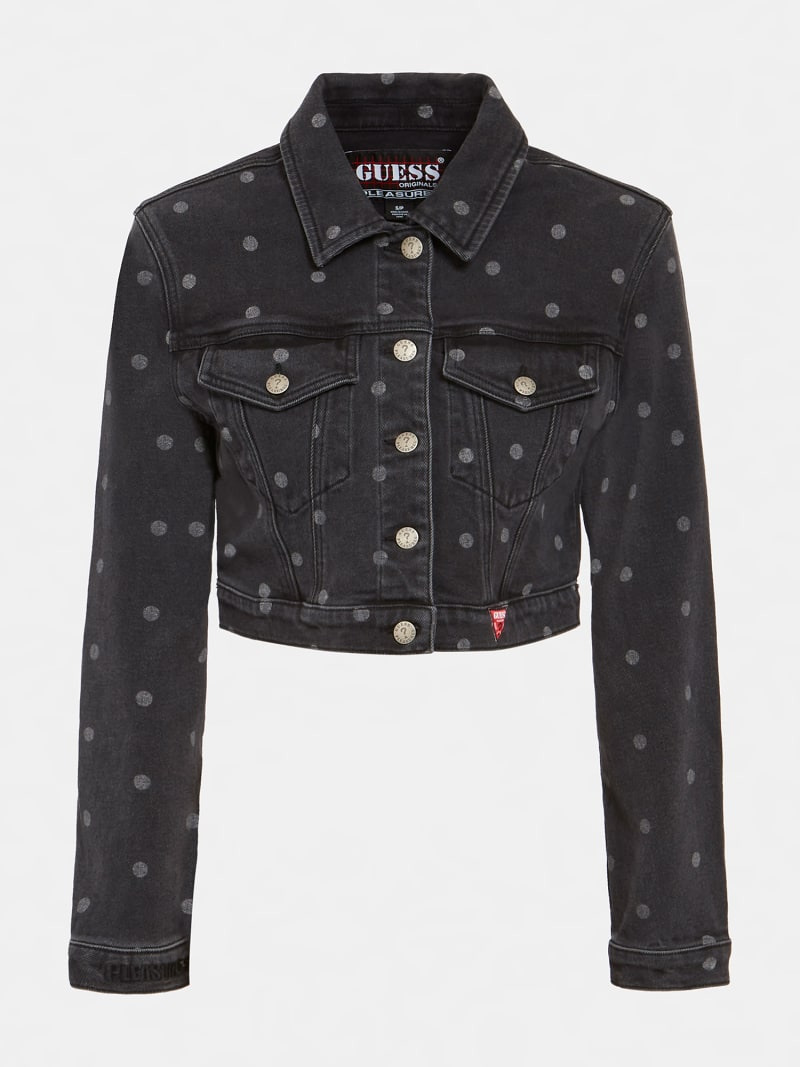 POLKADOT DENIM SHORT JACKET image number 5