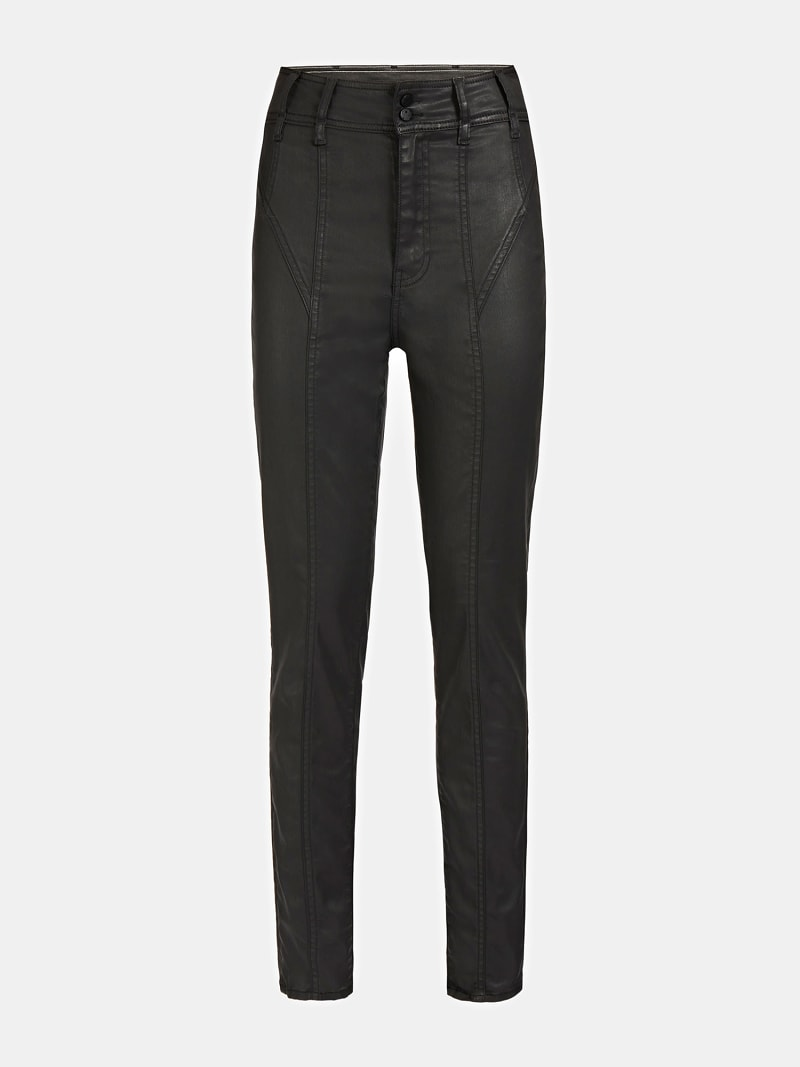 COATED SKINNY FIT DENIM PANT image number 3