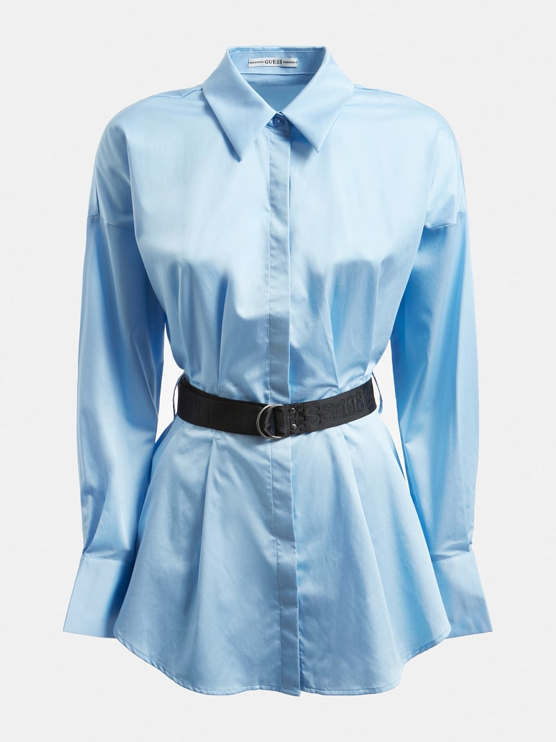 POPELINE BELTED SHIRT image number 3