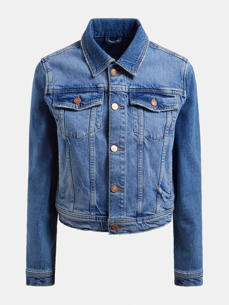 REGULAR FIT DENIM JACKET image number 3
