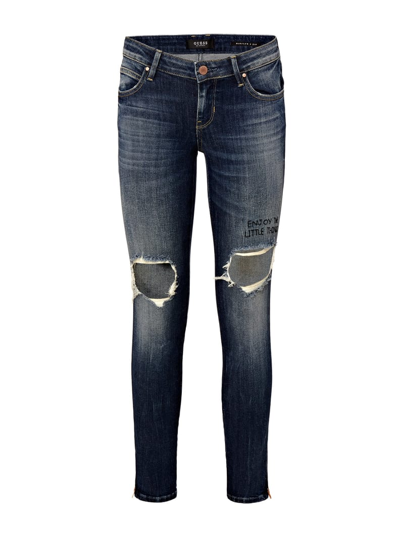 JEANS SKINNY CON STRAPPI image number 3