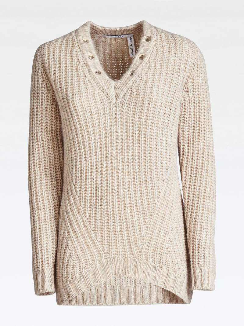 STUD NECK SWEATER image number 3