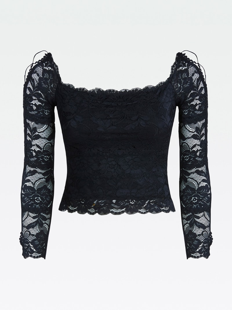 LACE TOP WITH CORSET DETAIL image number 4