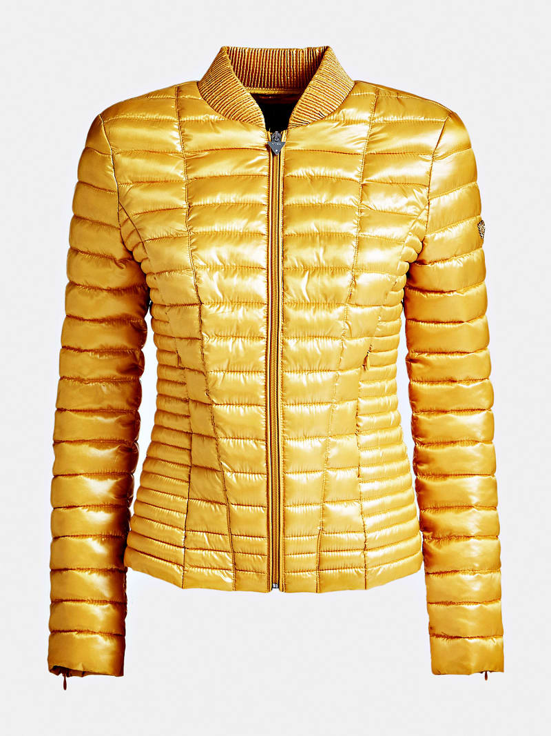 PATENT-LOOK PADDED JACKET image number 3