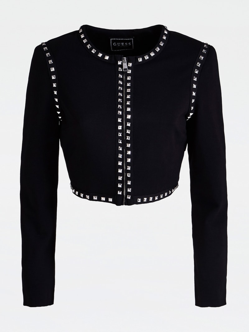 STUD APPLIQUÉ CROP JACKET image number 3