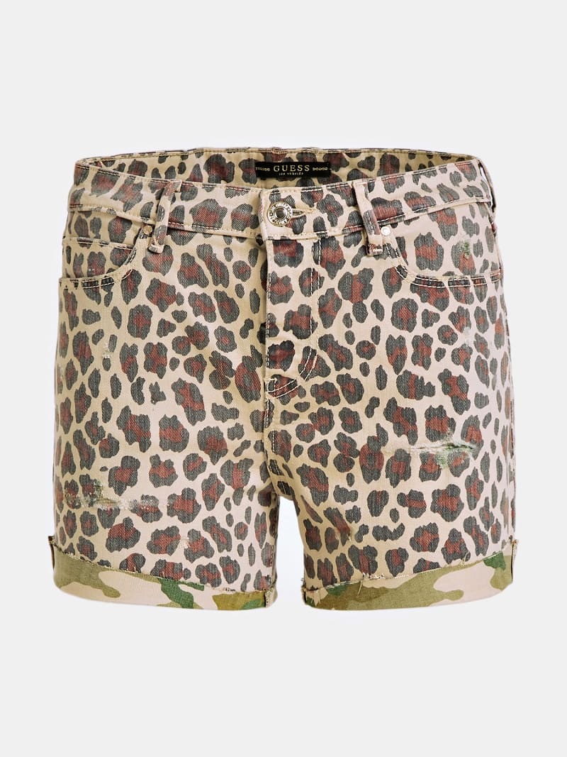 SHORT JEANS STAMPA ANIMALIER image number 3