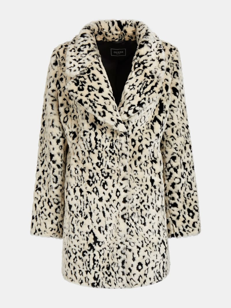 ANIMALIER FAUX FUR COAT image number 4