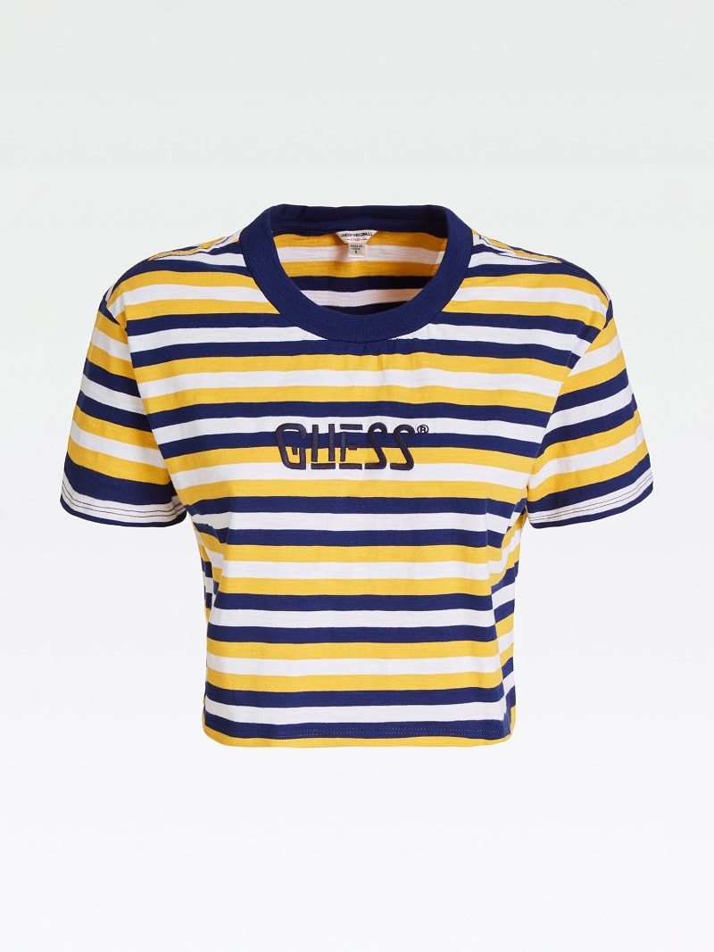 CROP TOP WITH STRIPES AND LOGO image number 4