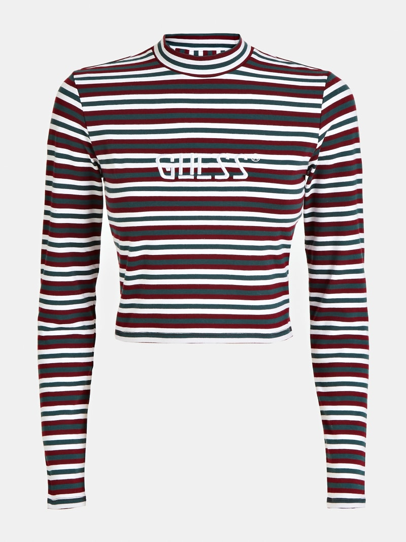TOP WITH STRIPES AND LOGO image number 4