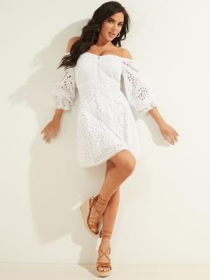 Guess Robe B/éb/é Fille A84k11 Dress Blanc