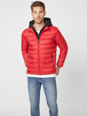 GUESS Factory Beau Hooded Puffer Jacket 7-18