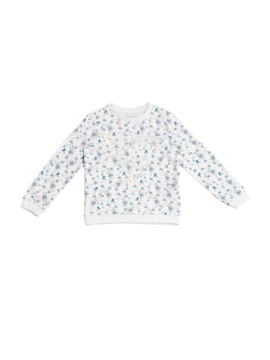 Kids Girls Guess Logo Sweatshirt Crew Sweater Long Sleeve New