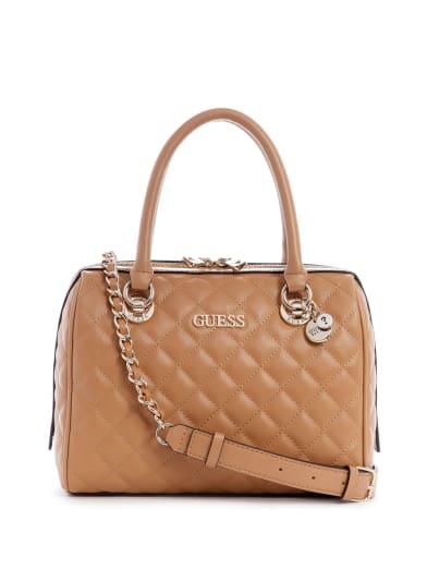 Petit sac banane /à rabat tendance femme en simili cuir matelass/é Matrix Quilted Guess hwvg77 40810 taille 12 cm