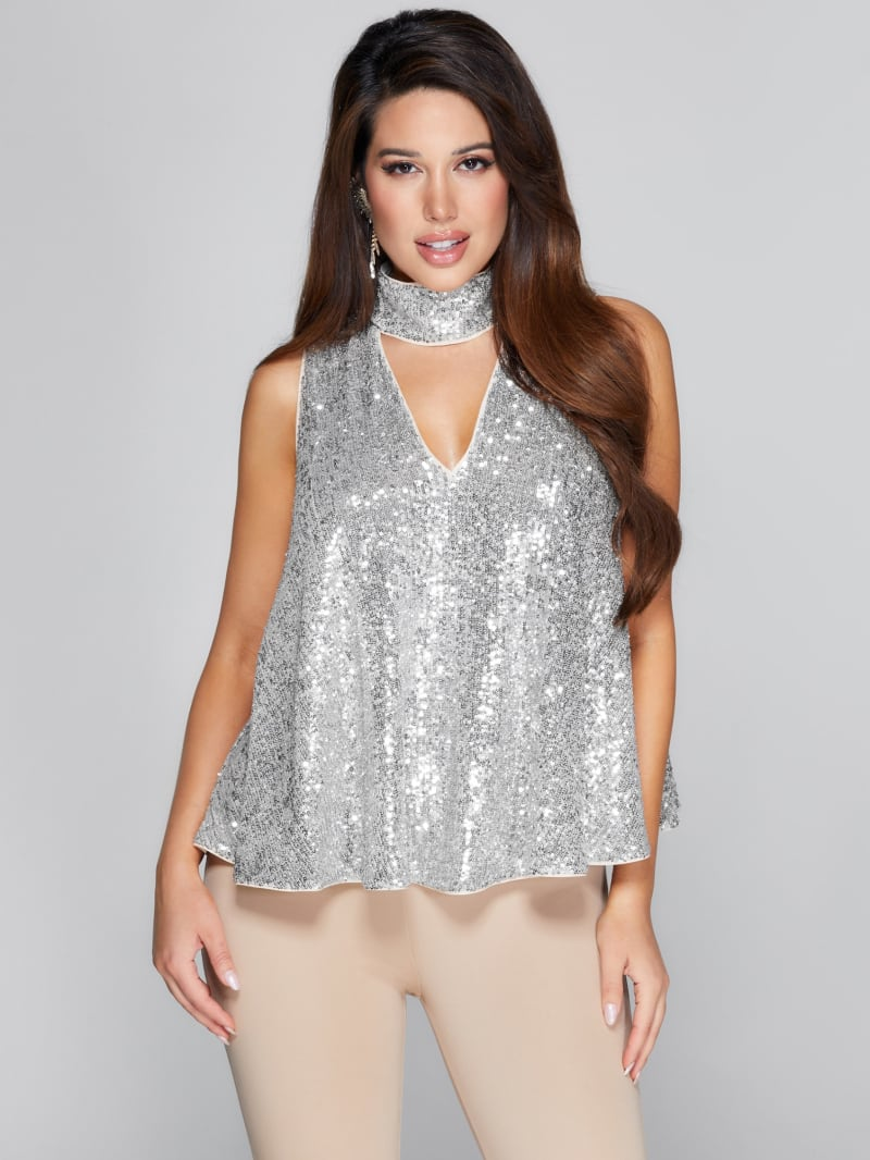 Starry Collar Top