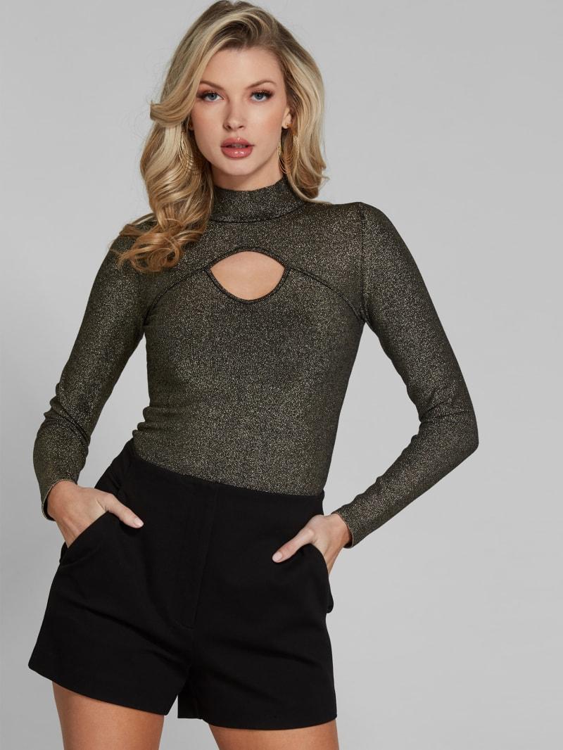 Catori Metallic Sweater Top