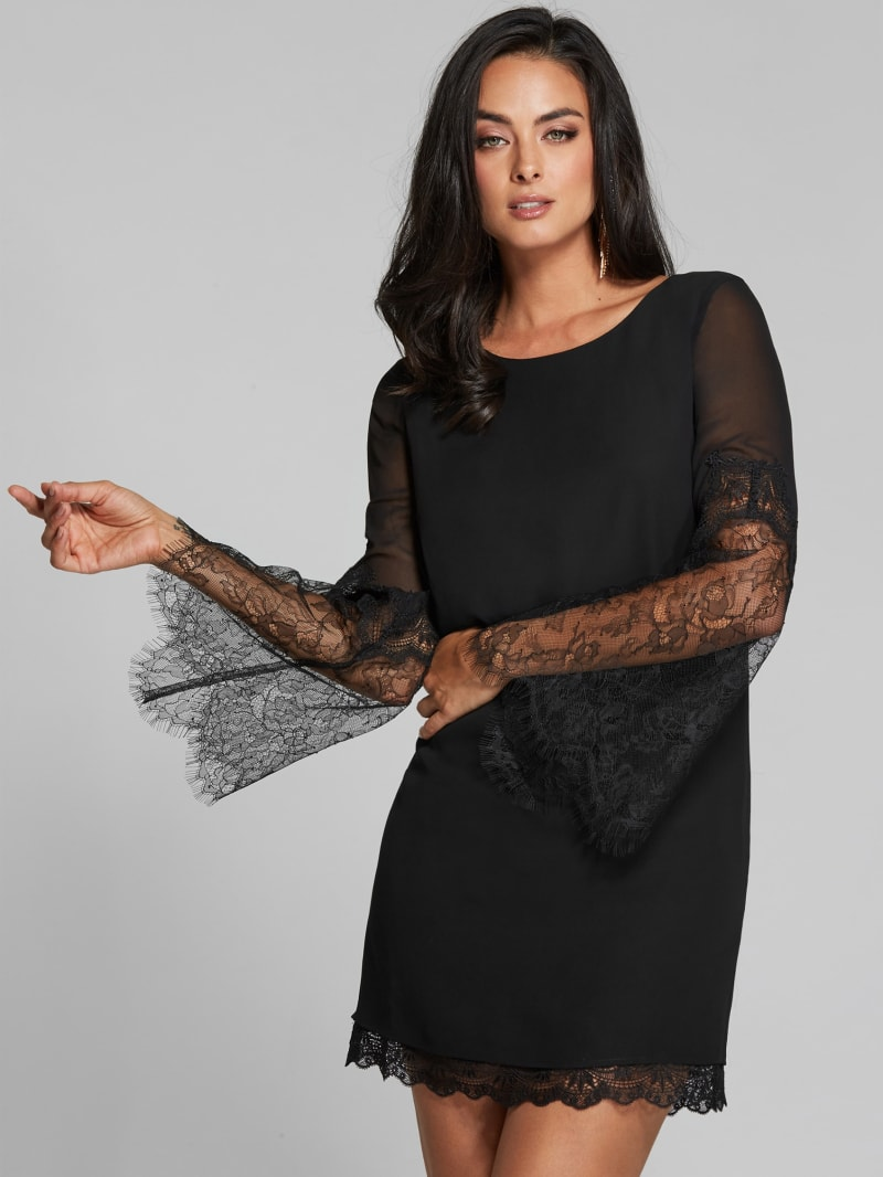 Melody Lace Bell-Sleeve Dress