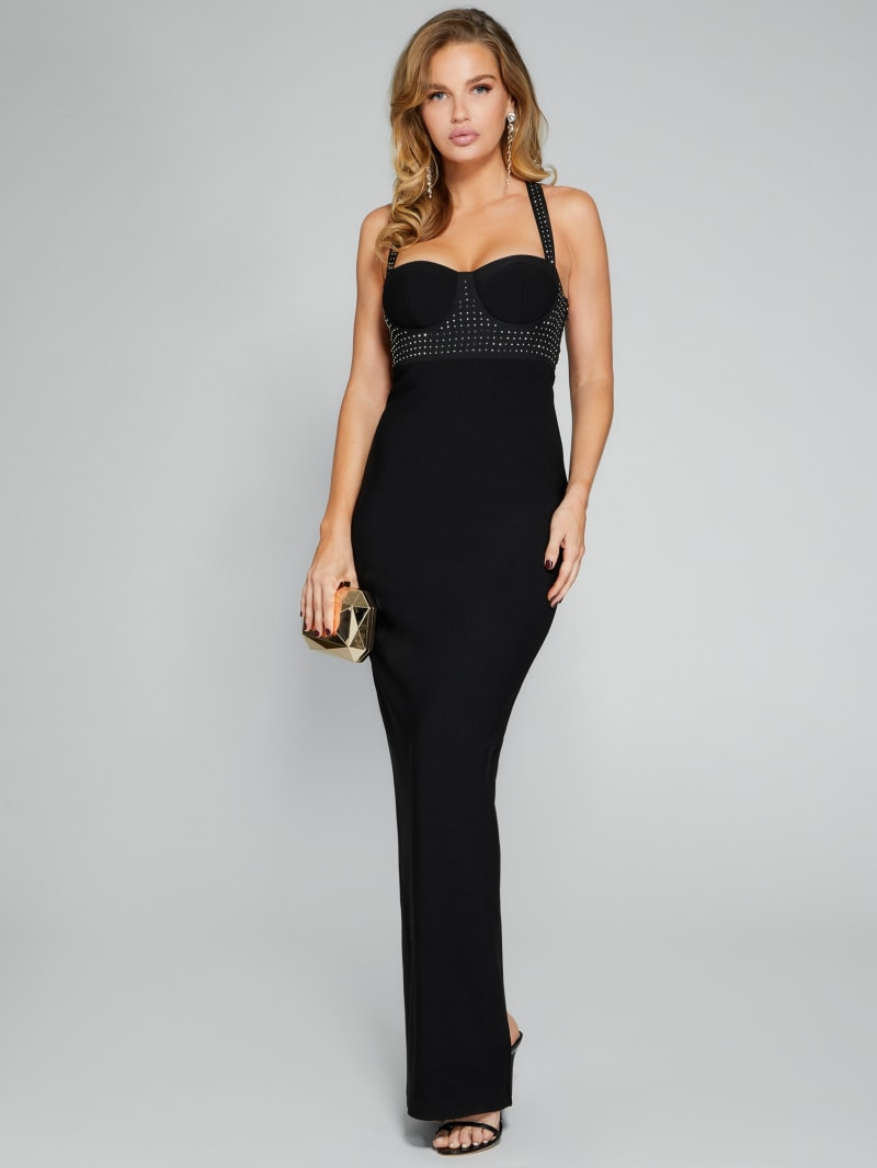 Sapphire Bustier Gown