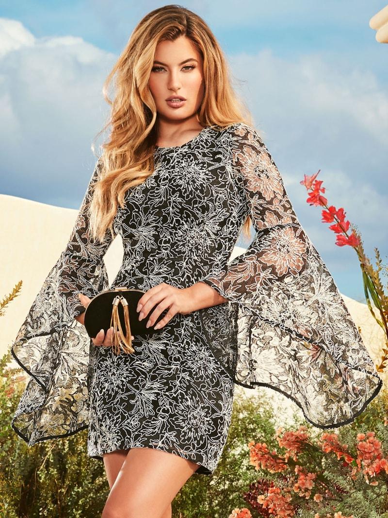 Julie Lace Bell Sleeve Dress