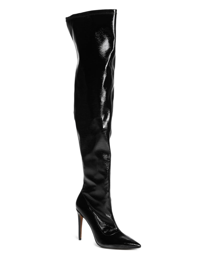 Glossy Over-the-Knee Boot