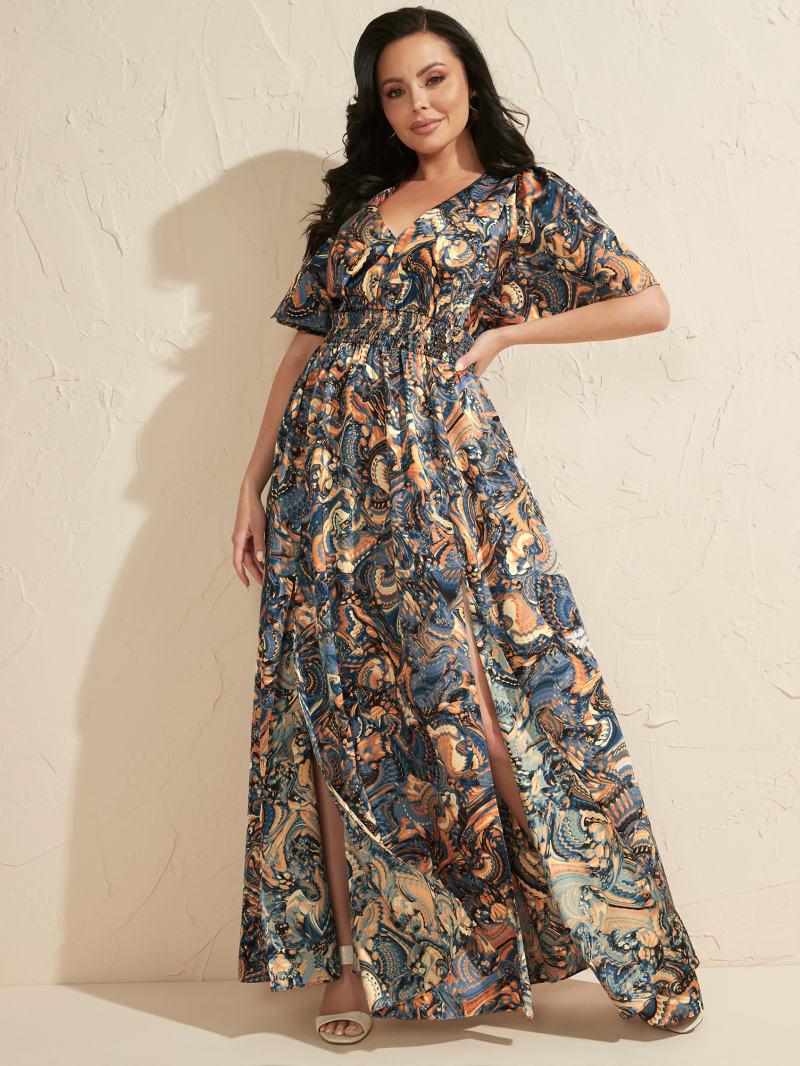 Slick Paisley Maxi Dress