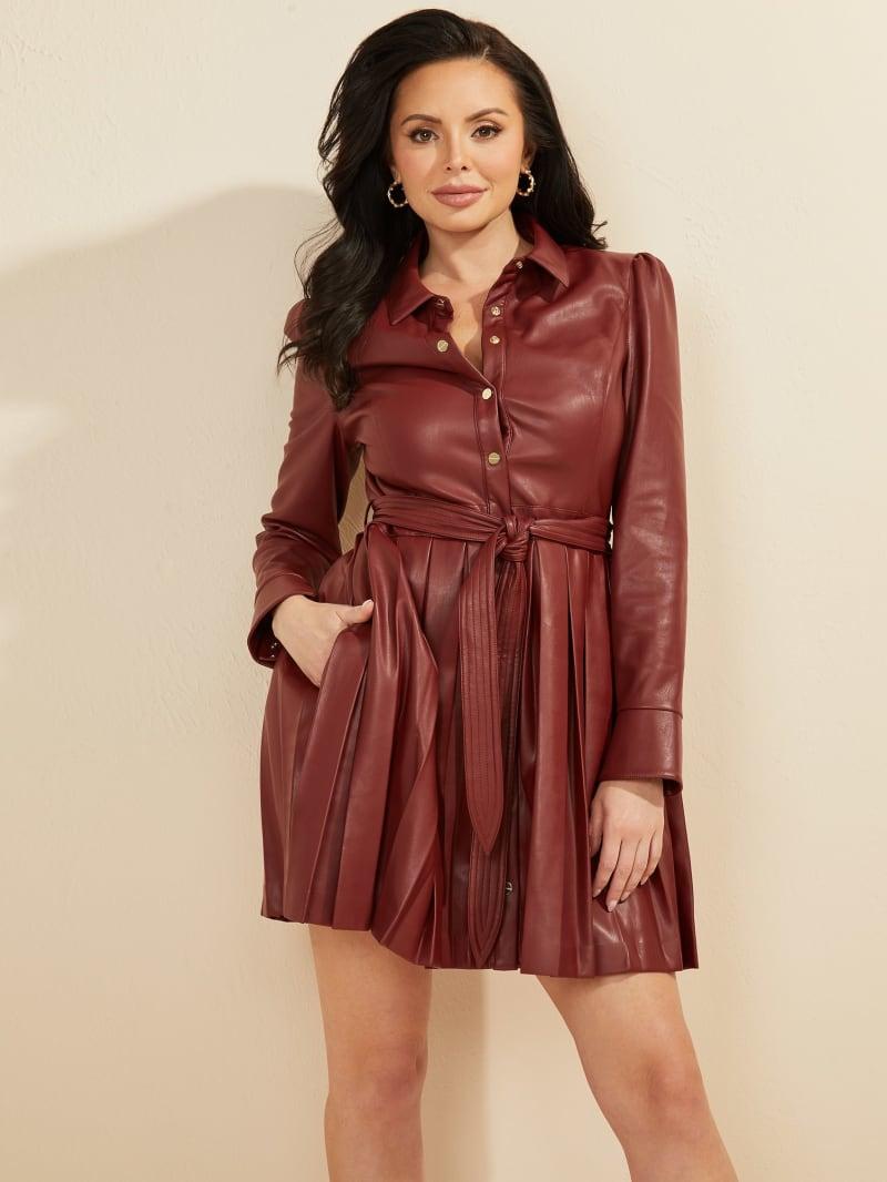 Tetra Faux-Leather Dress