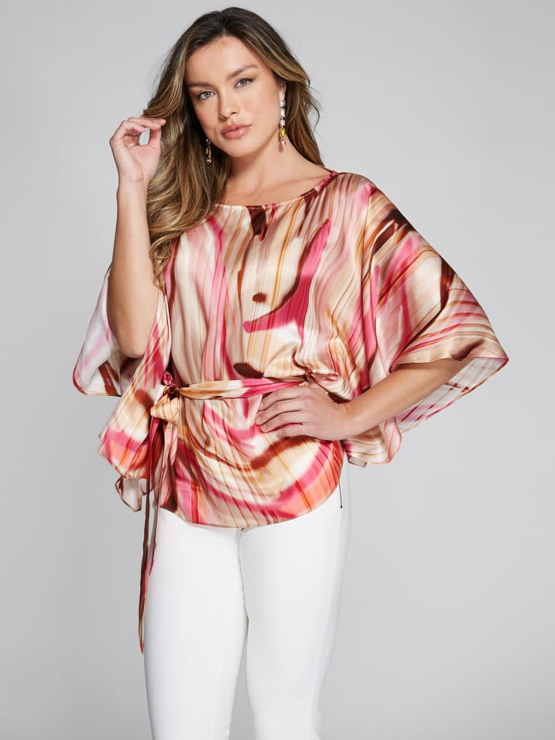 Cabana Waves Silk Blouse