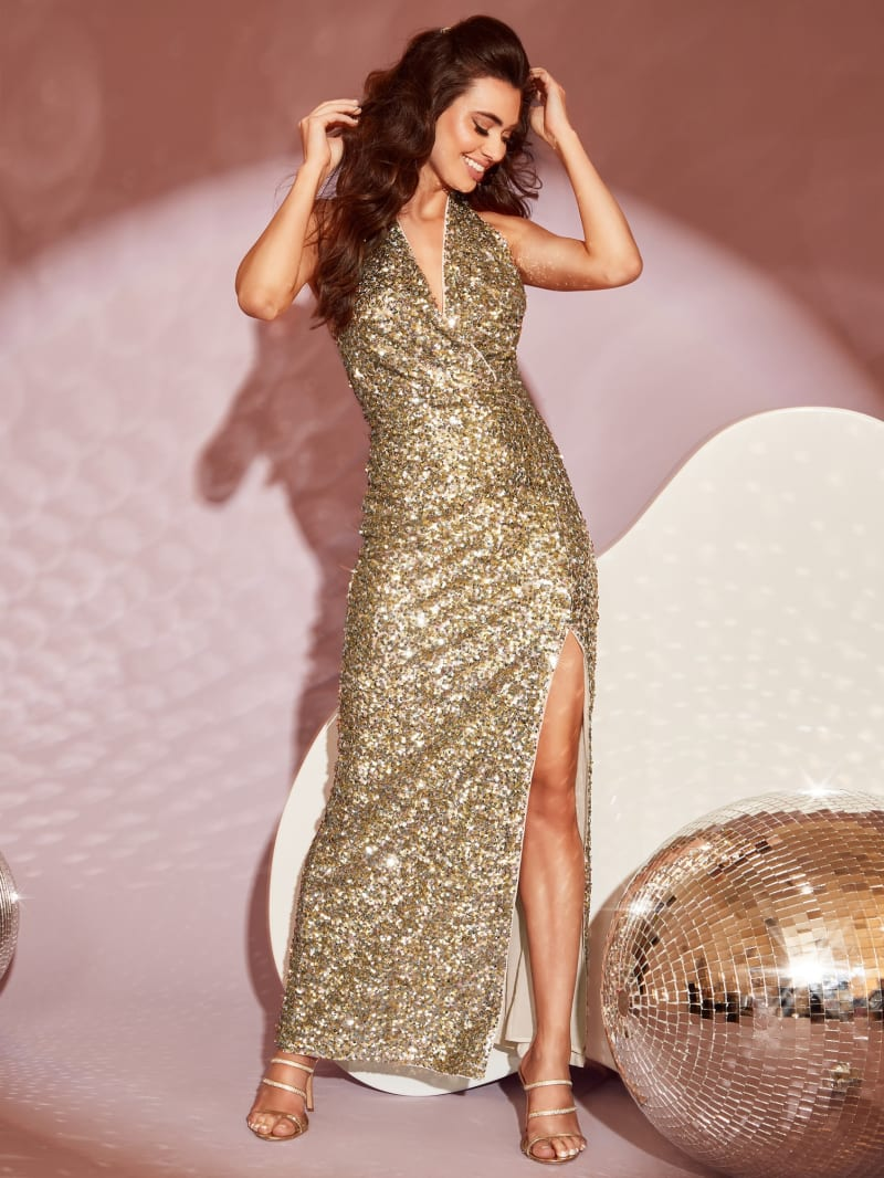 Daria Sequin Gown