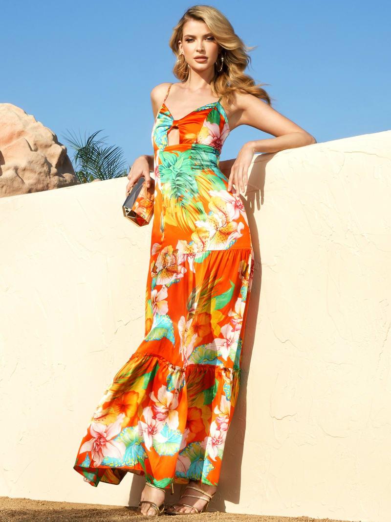 Heat Wave Silk Maxi Dress