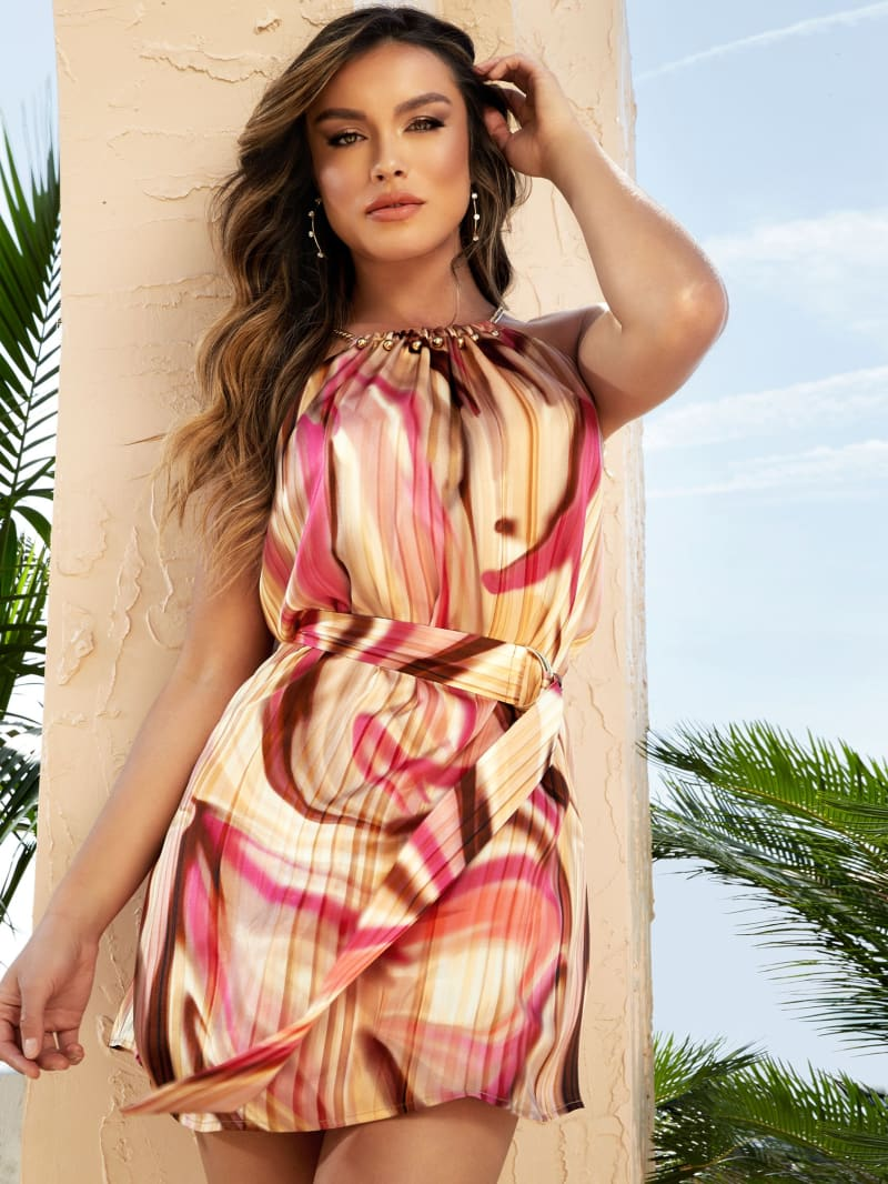Cabana Wave Silk Dress