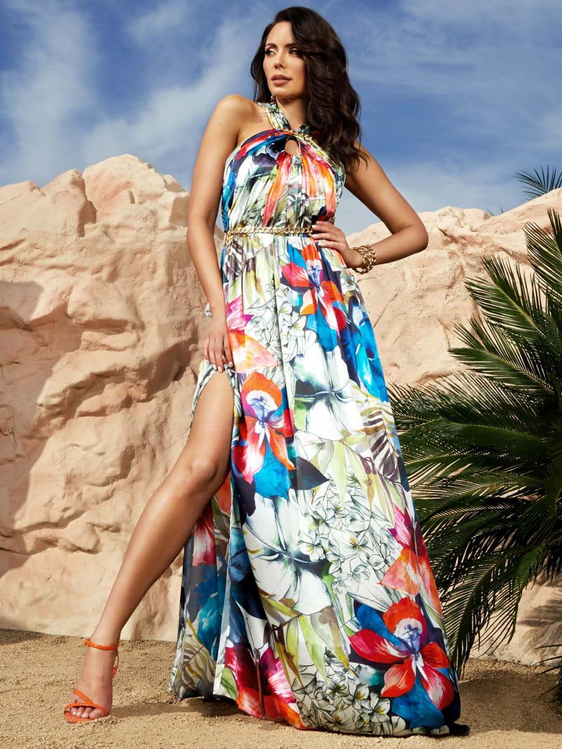 Superbloom Silk Gown