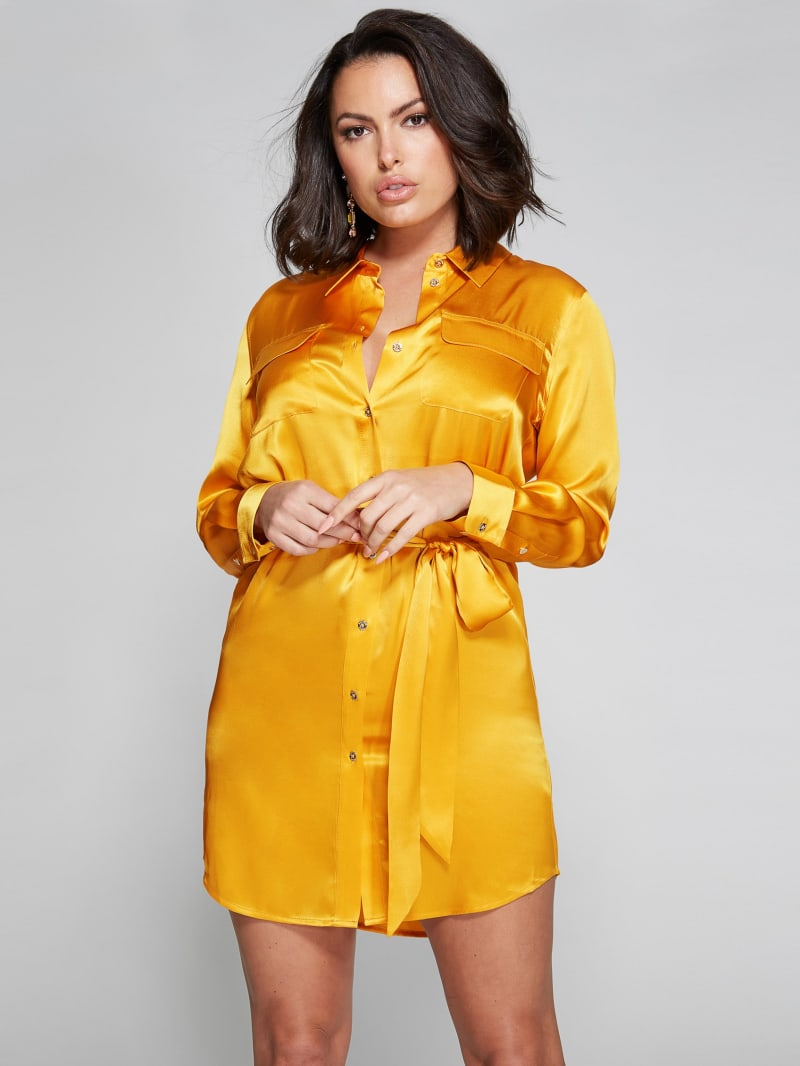Etta Silk Shirt Dress