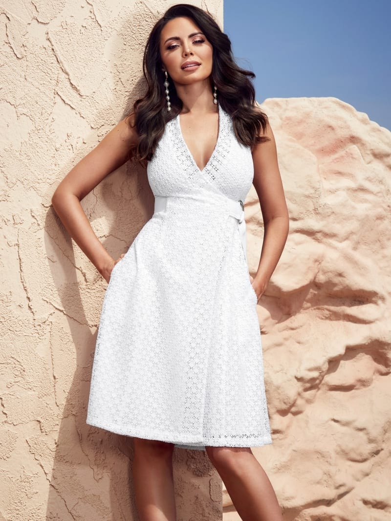 Tarida Belted Eyelet Dress