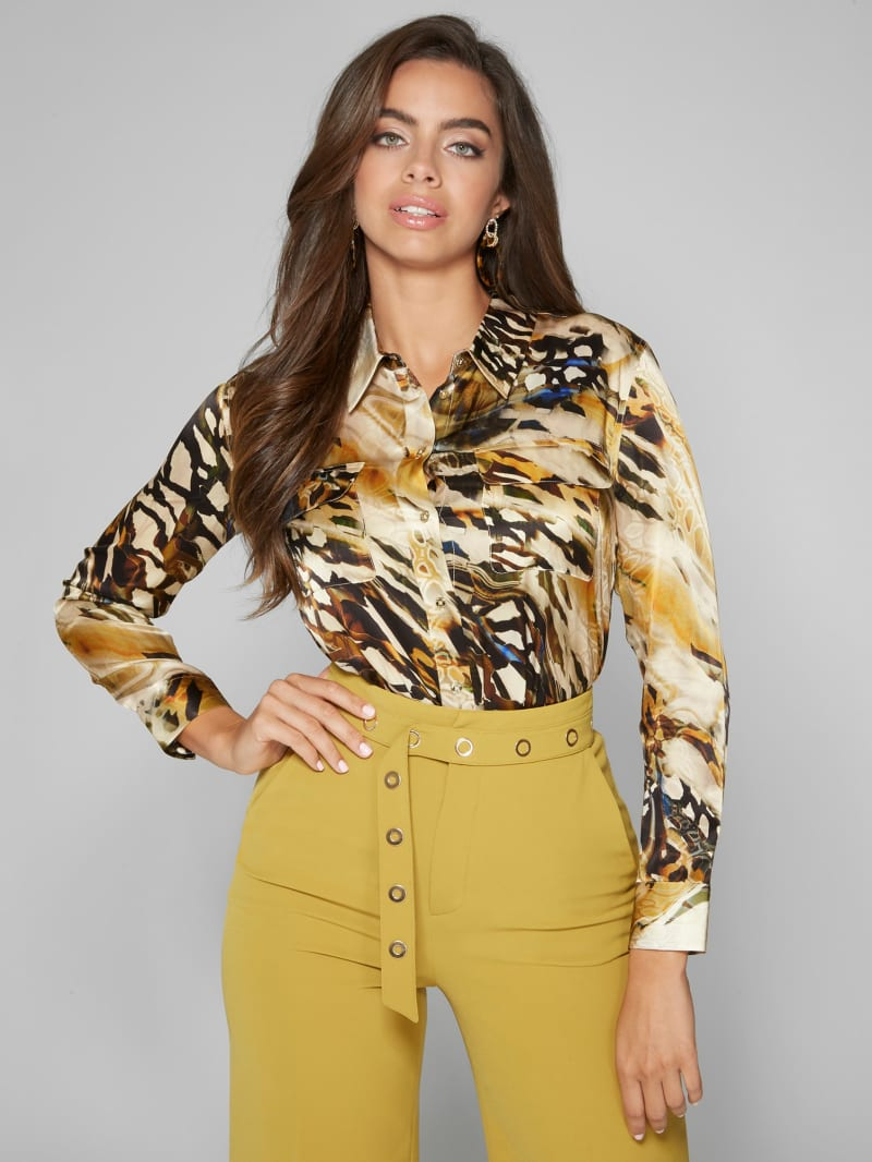 Another Level Silk Blouse
