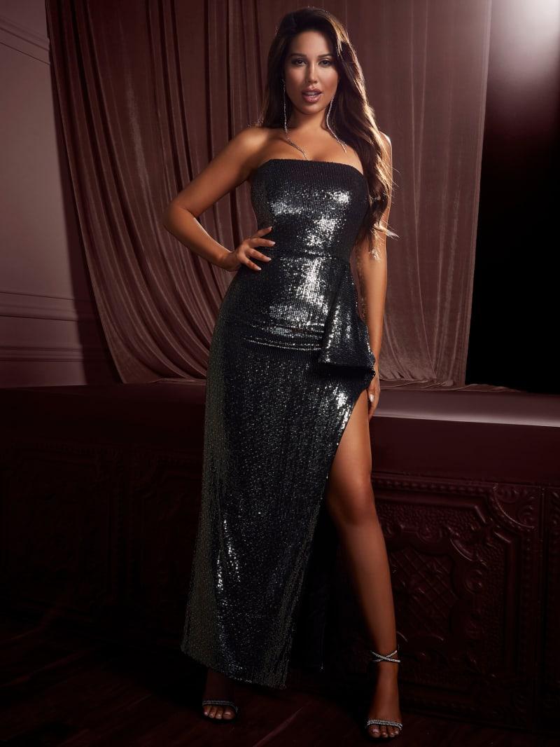 Stellar Flounce Sequin Gown