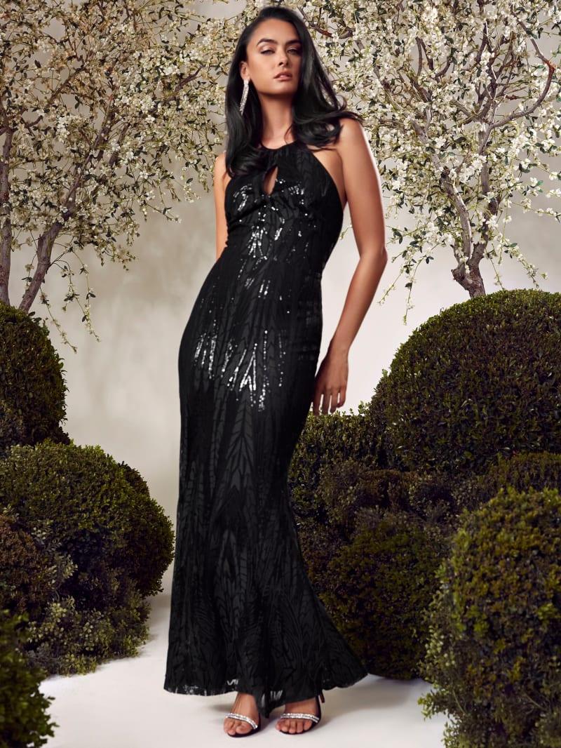 Elara Sequin Gown