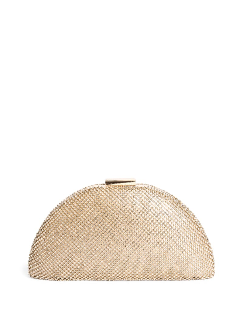 Gold Bejeweled Minaudiere